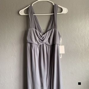 NWT David's Bridal Maternity gray bridesmaid dress
